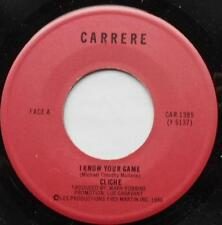 CLICHE (POWERPOP) I know your game NM- CANADA ORIG 1980 CARRERE 45