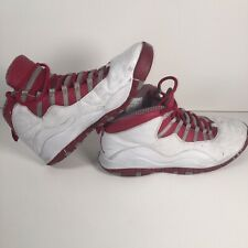Nike Air Jordan 10 X Retro Varsity White/Red Light Steel Grey  310805-161 UK 12