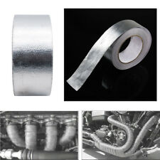 25M High Heat Insulation Aluminium Wrap Exhaust Header Pipe Tape Cloth Silver
