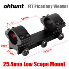 Ohhunt Tactical 25.4mm Double Ring Low Profile Picatinny Weaver Scope Mount Ring