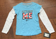 Nike Layered Long Sleeve Tshirt~Kids Toddler~4T~Blue Chill~Nwt~Retail $22