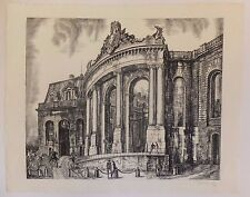 Porte de Chantilly, burin, Albert Decaris, XXe siècle