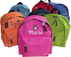 Kindergarten Kinder-Rucksack Tasche - mit Motiv / Namen bestickt *NEU*