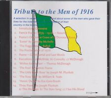 TRIBUTE TO THE MEN OF 1916,CD ALBUM,1916 IRISH EASTER RISING,POETRY, RARE,BALLAD