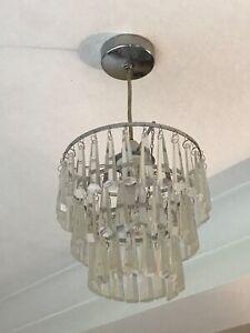 Laura Ashley three tier glass drop ceiling light
