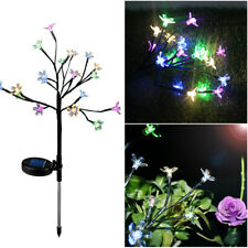 Solar Power Cherry Flower Led Light Garden Yard Lawn Landscape Lamp Night Light