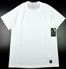 6a5fc3ae Nike Pro Dri-Fit Men's Large White Fitted T Shirt Athletic Gym Short Sleeve  Tee