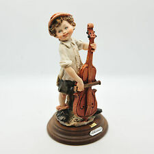 GIUSEPPE ARMANI BOY WITH CELLO CAPODIMONTE FIGURINE PIECE