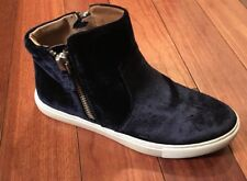 NEW STEVE MADDEN WOMENS WEDGIE FASHION SNEAKERS NAVY BLUE SUEDE 7M US