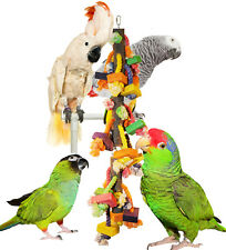 Ropey-Dopey Chew & Preen Bird Toy.  Wood, Rope and Natural Branches