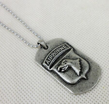 COOL US ARMY STYLE AIRBORNE NECKLACE AIRBORNE DOG TAG PENDANTS-L0050