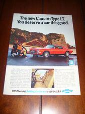 1973 Camaro *Original Vintage Ad*