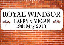 Harry & Megan Royal Windsor Celebration Street Sign Design Wall Plaque
