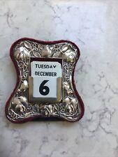More details for silver 1906 birmingham art nouveau perpetual calendar.
