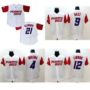 Puerto Rico Yadier Molina Baseball Jersey Francisco Lindo Javier Baez Clemente