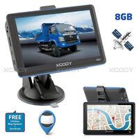 XGODY 8 Go 5'' GPS SAT NAV Carte Mises à jour gratuites Voiture un camion NAV FM