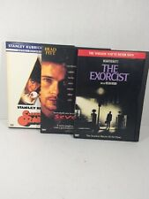 3 Piece Side Locked Dvd Clockwork Orange, Seven, The Exorcist All Movies Great