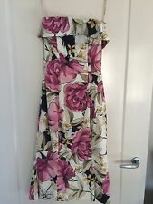 KAREN MILLEN Floral Strapless Dress *BNWT* - AU Size 8, US 4, UK 8