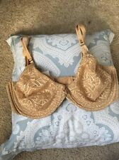 New Nude Montelle Intimates Tan Bra, 38 Dd 38 E Underwire Unlined Lace