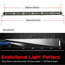 "Single Row 20"" LED Light Bar 270W Driving Offroad Flood Spot Combo Beam 27000LM"