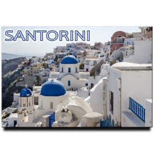 Santorini Thera fridge magnet Greece travel souvenir