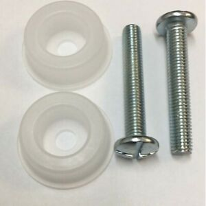 2 X New Headboard Headboard Bolts Screws with Plastic Washers for Divan Beds