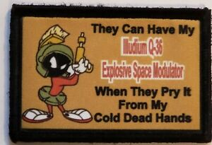 Looney Tunes Martian 2A Morale Patch Tactical Army Military Hook Flag USA