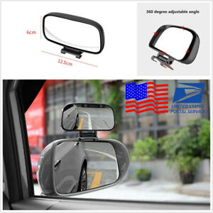 Car Multi-purpose Adjustable Side Rearview Mirror Blind Spot Auxiliary Mirror 1x
