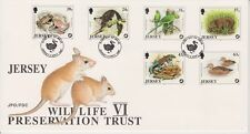 Unaddressed Jersey FDC First Day Cover 1997 Wildlife Preservation VI Set