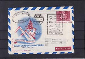 Ballonpost UPU Ganzsachen Bildkuvert 1950