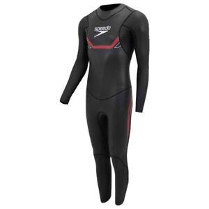 Speedo Proton Thinswim Triathlon Mens Swimming Fullsuit Swimsuit Wetsuit Black M