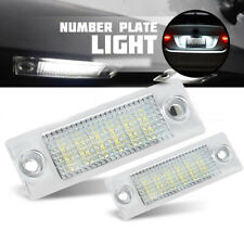 2pc LED License Number Plate Light Lamp Fit For VW Touran Golf Passat Caddy UK