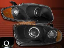 2003-2005 CHEVY CAVALIER HALO ANGEL EYE LED BLACK PROJECTOR HEADLIGHTS 2/4 DOOR