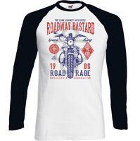 BIKER T-SHIRT Mens Motorbike Bike Motorcycle Cafe Racer Roadway Bastard Indian