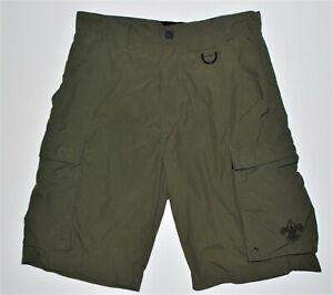 Boy Scouts Of America Cetennial Uniform Shorts Adult Small Green Nylon