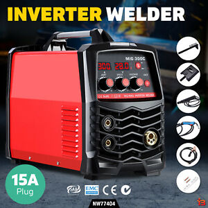 300 Amp Inverter Welder DC MIG MMA Gasless Welding Machine Portable - Red