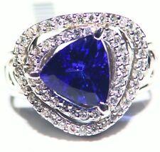 3.68CT 14K Gold Natural Tanzanite Diamond Vintage AAA Antique Engagement Ring