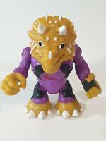 Imaginext Half Shell Heroes TRICERATOPS  purple Fall Teenage Mutant Turtles