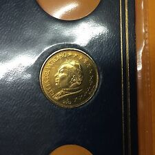 10 CENT VATICAN 2002 JEAN PAUL II ( PLAQUETTE ) NEUF / UNC.
