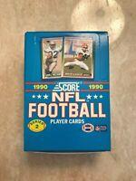 1990 SCORE FOOTBALL SERIES II WAX PACK BOX