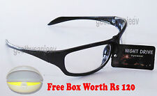 Transparent Night Driving Vision Safety Sunglasses Sun Glasses Dust Protection