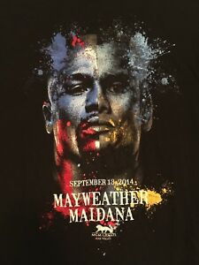 Floyd Mayweather Vs Marcos Maidana Shirt Sz L September 13. 2014 Las Vegas