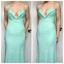 Mint Jarlo Size 6, Strapless, Maxi Prom Pageant Dress
