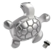 Simple Stainless Steel Turtle Cremation Jewelry Keepsake Urn Pendant Chain