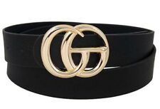 GG Belt Double gg Black Leather Off White LV Italy One Size Mens