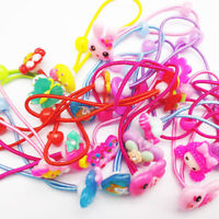 10pcs Cartoon Elastic Hair Rubber Bands Girls Elastic Hair Ropes Ponytail Holder