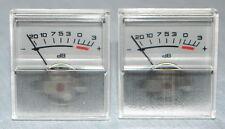 2 pcs ANALOG PANEL  VU meter Grey SCALE -20…+3dB, 250 uA, NOS !