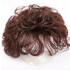 100% Human Hair Wig Natural Curly Hairpiece Topper Top Clip Short Wigs for Women