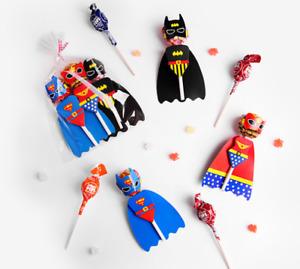 Lollipop Decor Party Bag filler Loot Gift Birthday party Superman Baatman