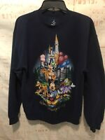 Walt Disney World Sweatshirt Vintage Retro Mickey Magic Kingdom Size M